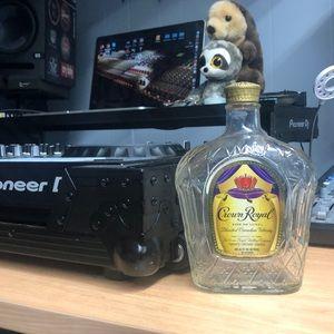 Empty Crown Royal Whisky Bottle